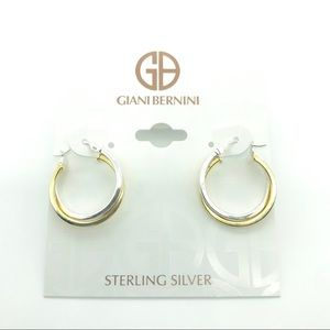 Giani Bernini Hoop Earrings 18k Gold over Silver